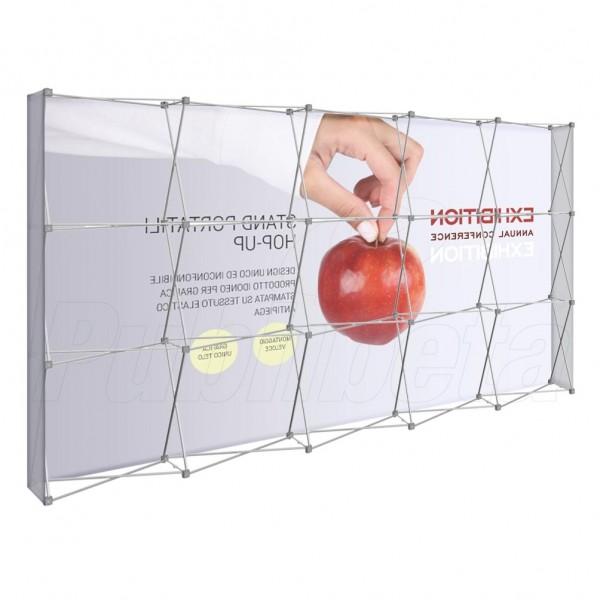 Stand portatile per fiera Hopup 3x5 moduli