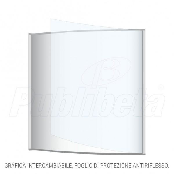 targa da muro alluminio