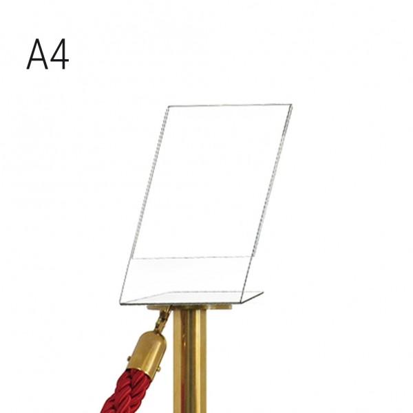 Porta comunicazioni A4 verticale per colonnina a cordone