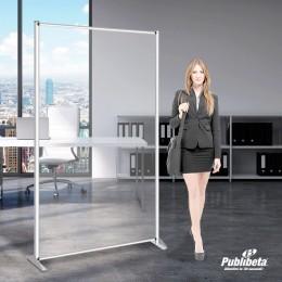 Pannelli divisori in plexiglass 100x190 cm.