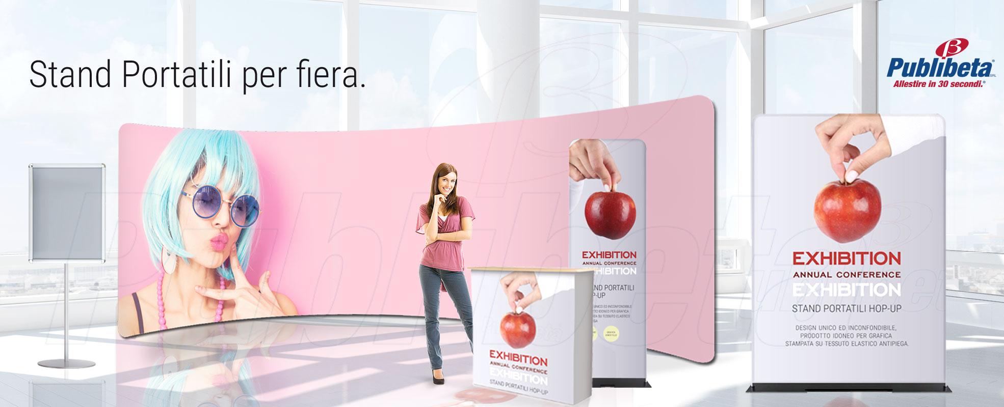 stand portatili pareti espositori pubblicitari con stampa in tessuto