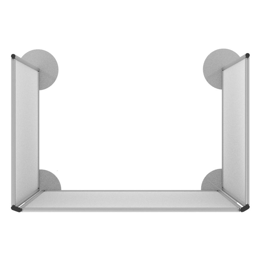 Pannelli divisori a cabina con basi tonde piatte
