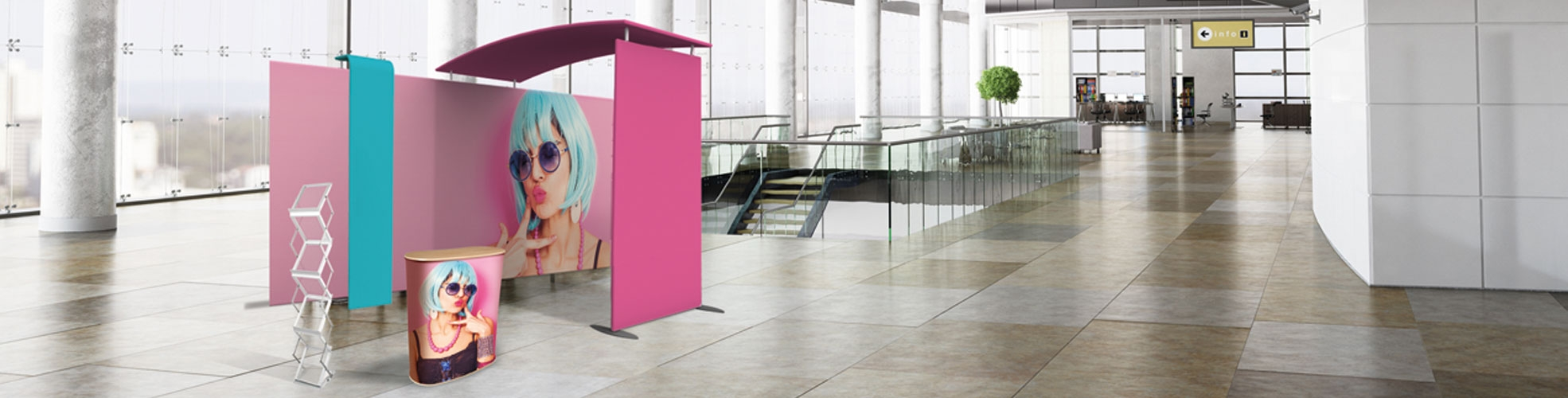 stand modulari componibili per isole promozionali, eventi, stand fieristici
