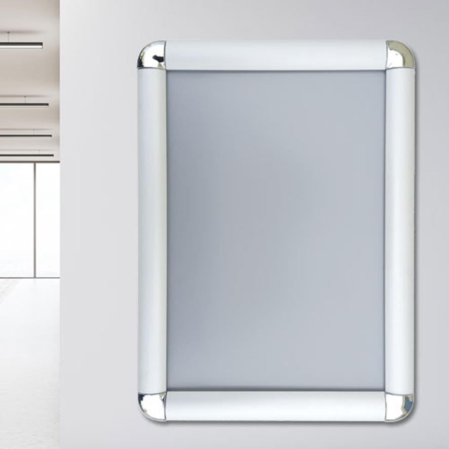 cornici a scatto angolo tondo profilo in alluminio 25 mm