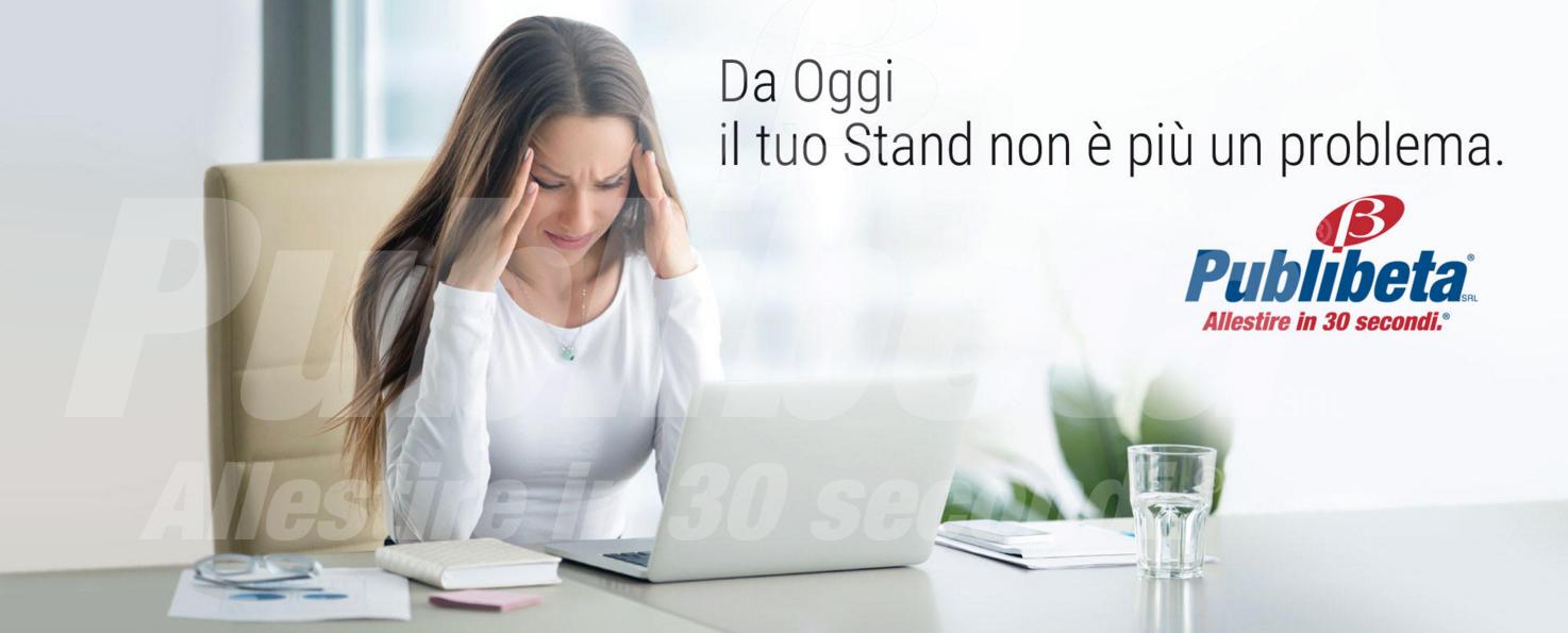 Publibeta srl - Allestire in 30 Secondi - Stand portatili - Isole promozionali - Segnaletica per ufficio.