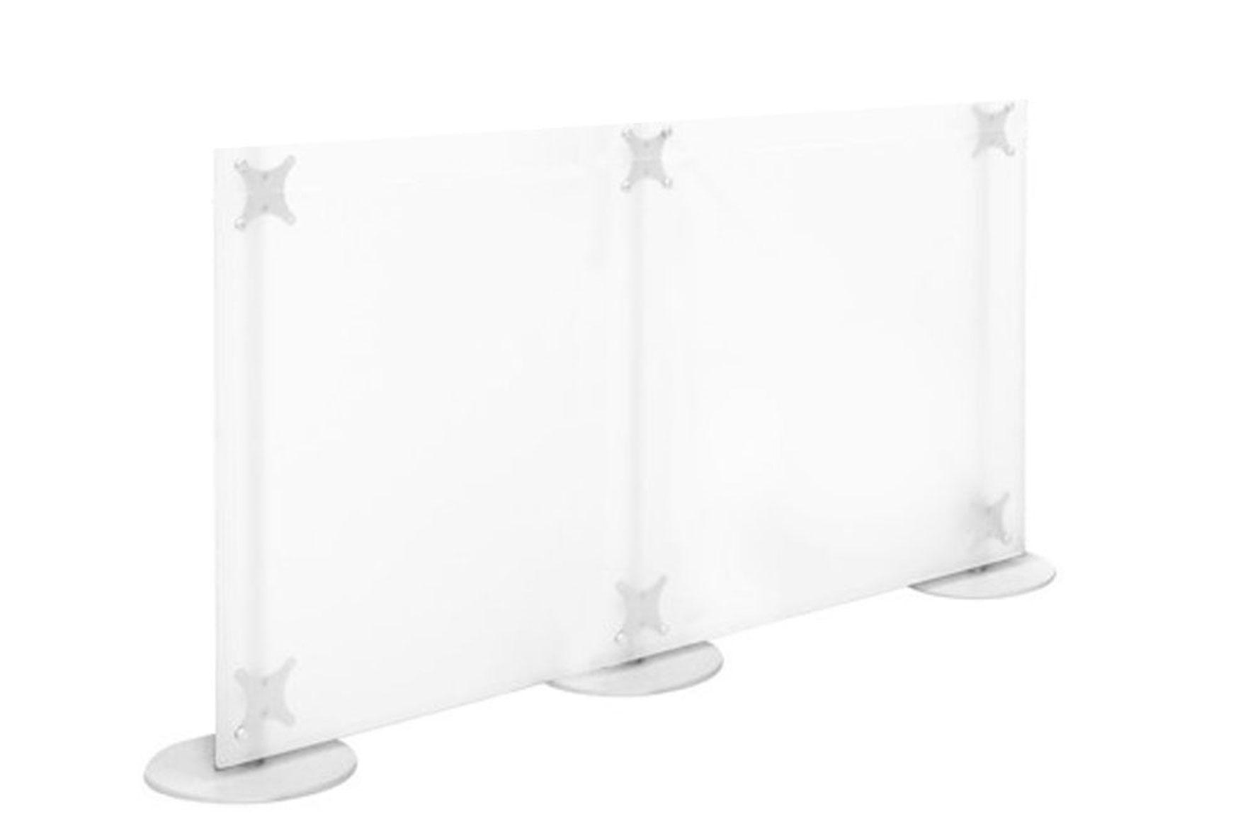 Pareti divisorie basse in plexiglass trasparente o colorato