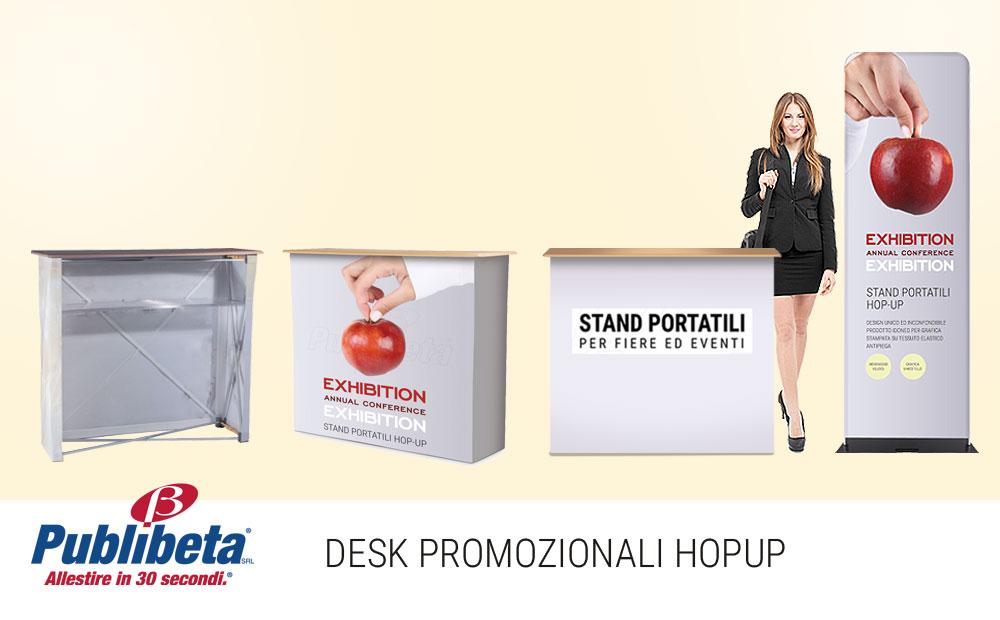 Desk promozionali banchetti pubblicitari