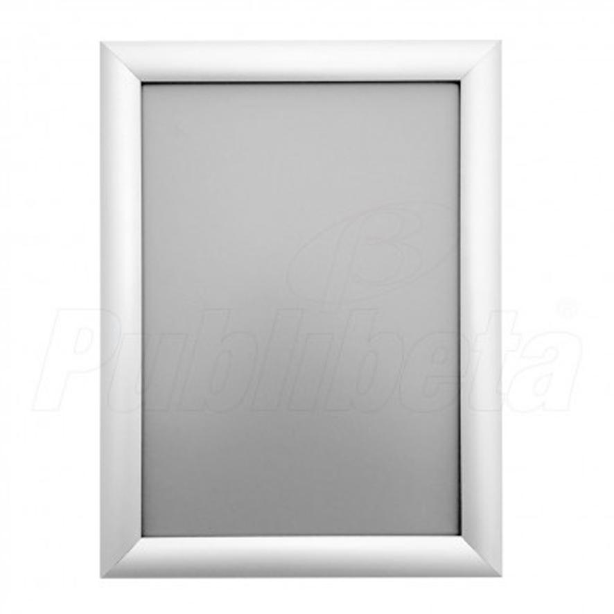 cornici a scatto con angolo a vertice, profilo di alluminio 25 mm.