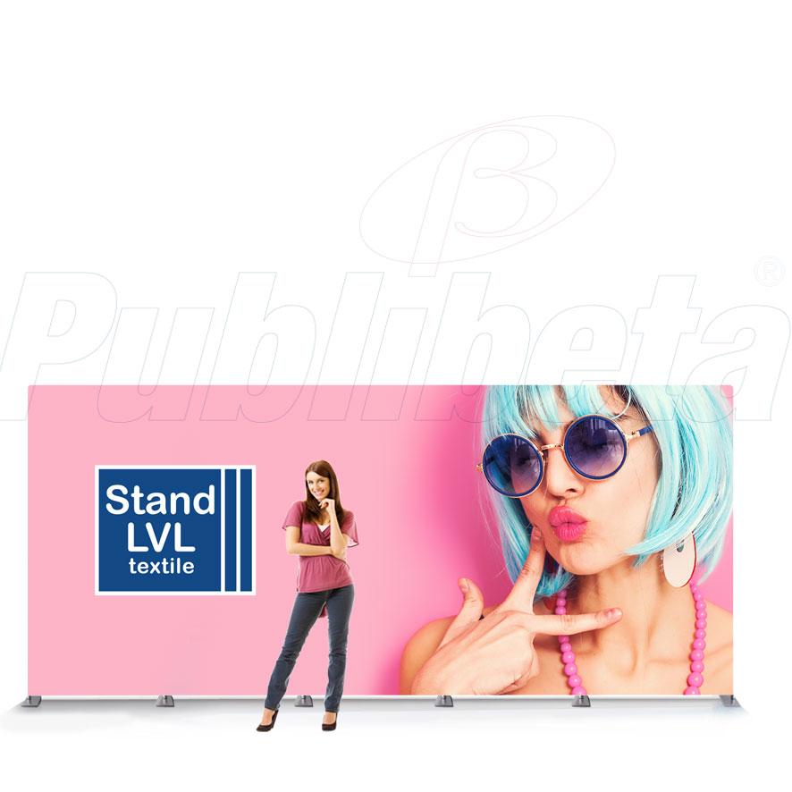 STAND PORTATILE PER FIERA, PANNELLO GRAFICO, FONDALE 5 MTx2,4