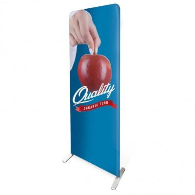 Totem pubblicitario portatile 80x200 con piedini, stampa su tessuto elastico antipiega bifacciale