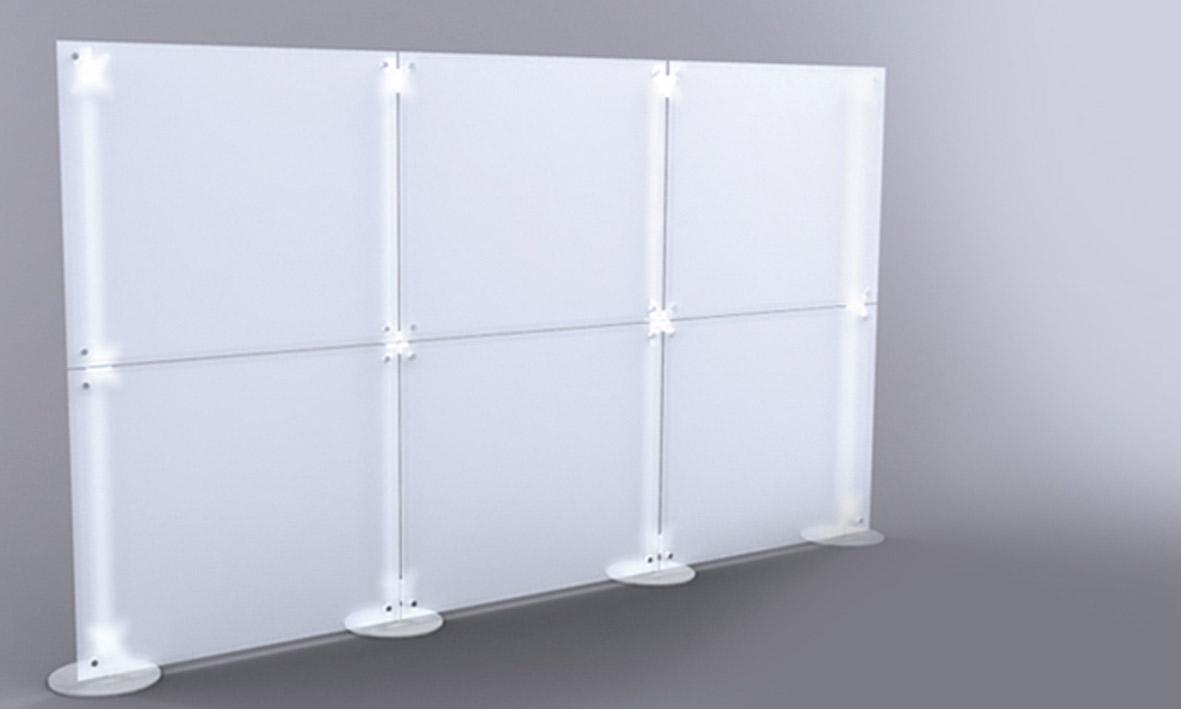 pannelli divisori modulari mobili