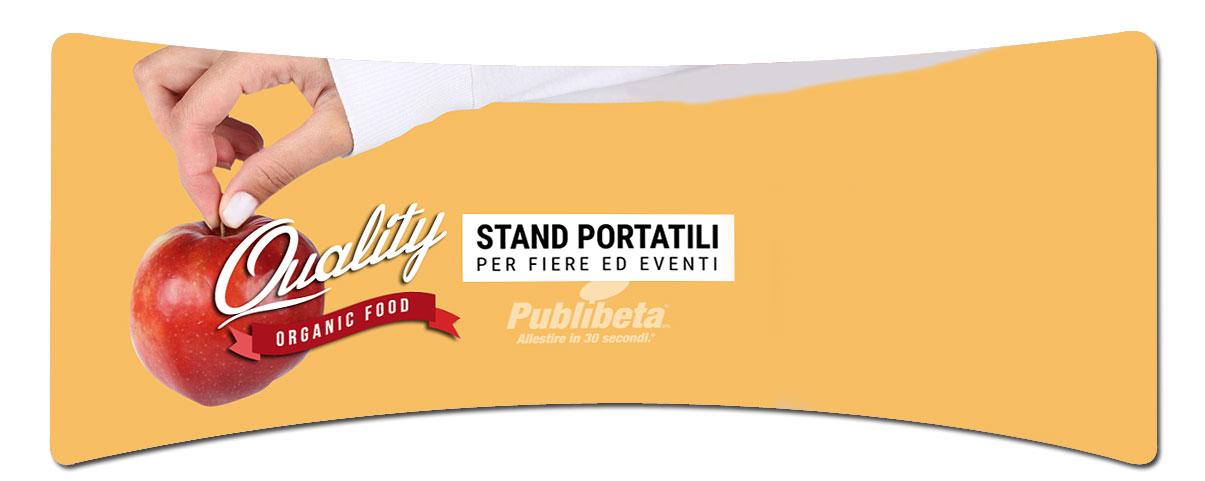 stand portatili per fiera, stampa su tessuto, grande formato pareti stand