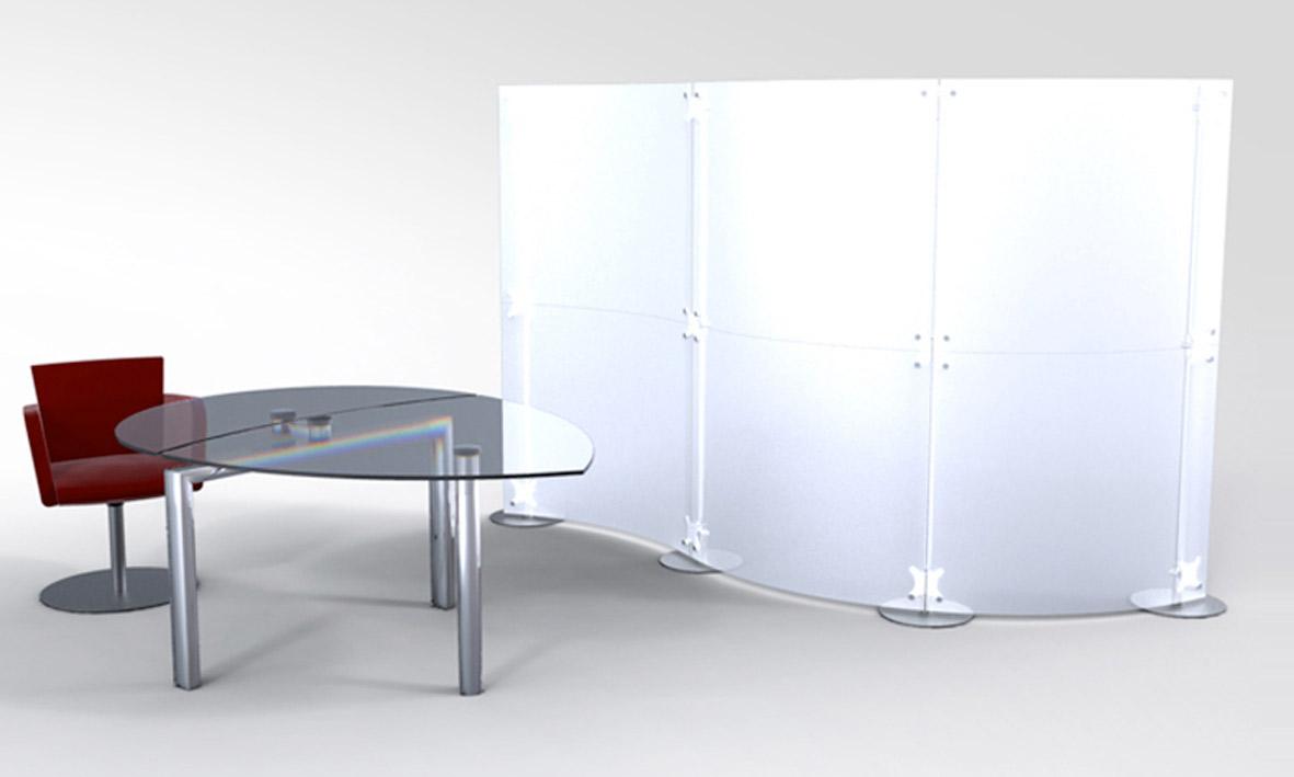 Pareti divisorie modulari per scrivania e partizioni di uffici