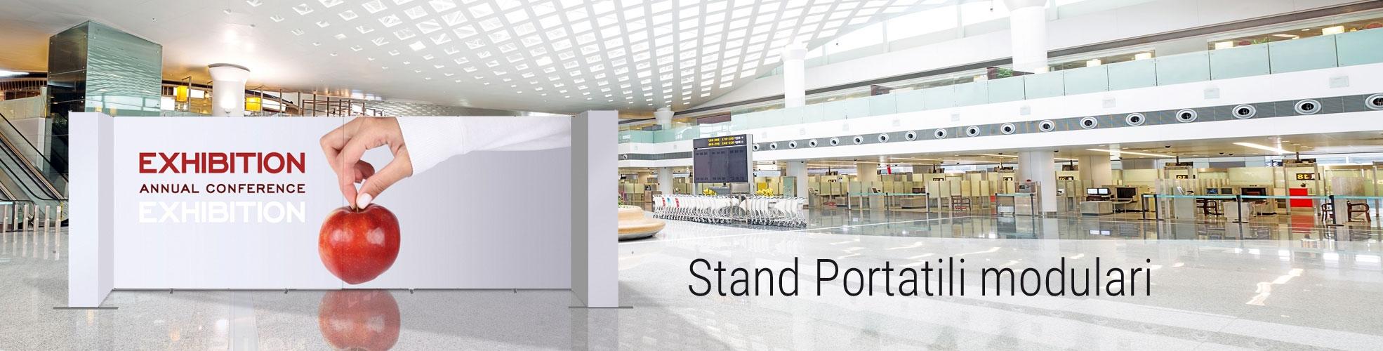 stand portatili per fiera componibili