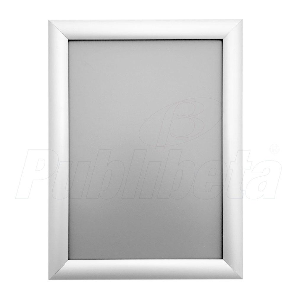 cornici a scatto in alluminio con profilo angolo a vertice