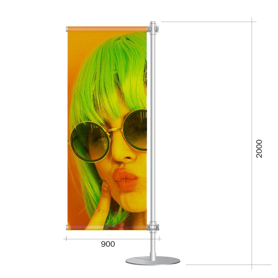 Porta banner pvc 80x200