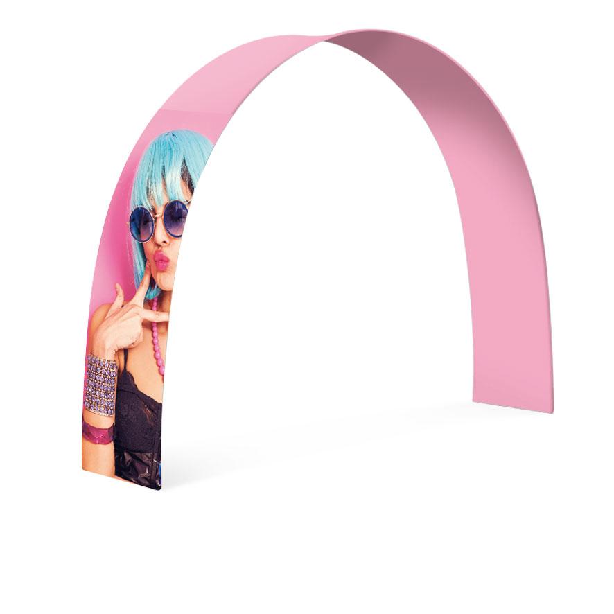 stand pubblicitari espositori stampa tessuto ad arco