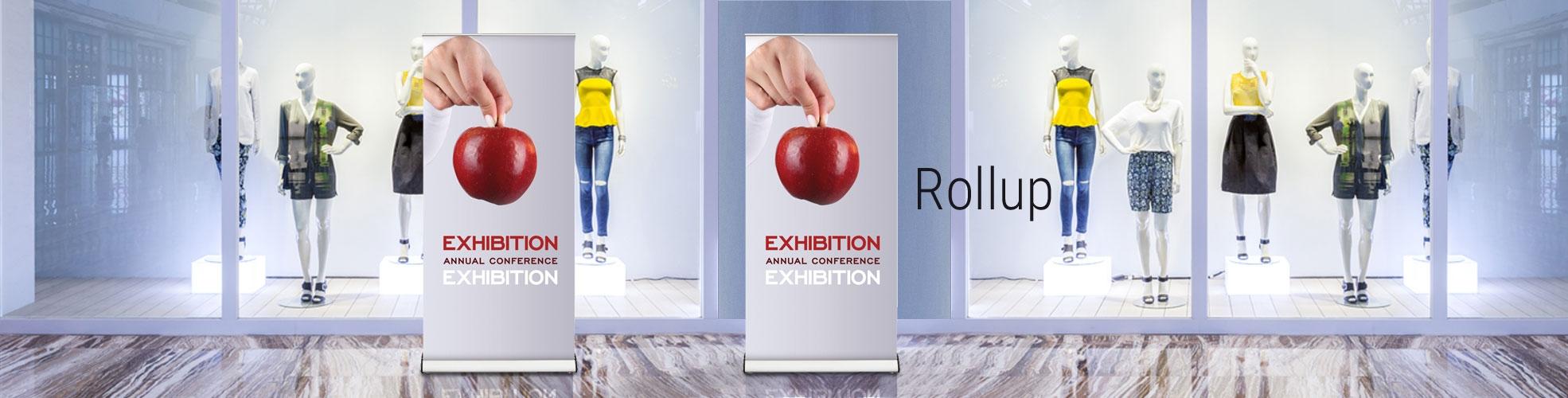 Espositori pubblicitari rollup banner stand, prezzi economici 80x200