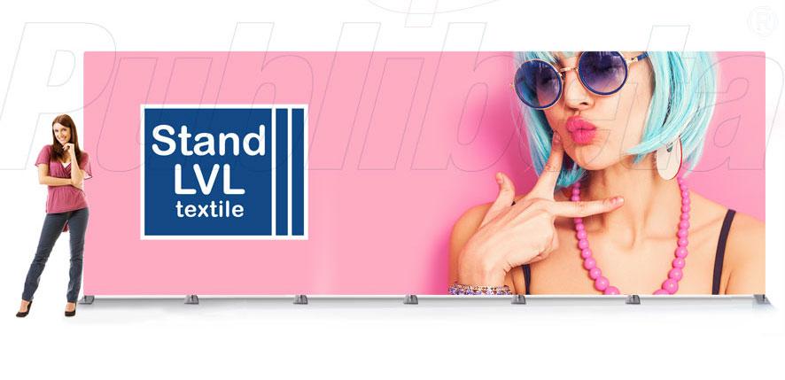 stand portatile per fiera fondale pannello grafico 6x2,4 mt.