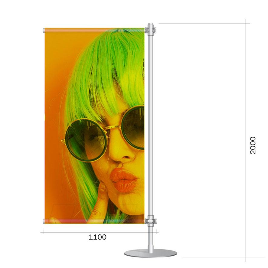 Porta banner pvc 100x200