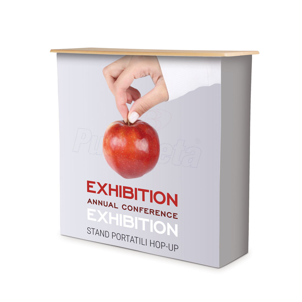 Desk promozionale banchetto stand pubblicitario stampa tessuto