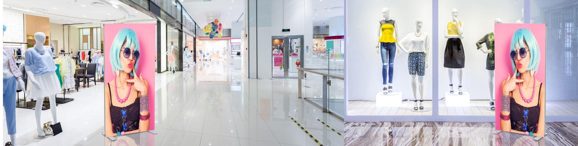 Pannelli grafici per stand per fiera, isole promozionali, negozi, centri commerciali