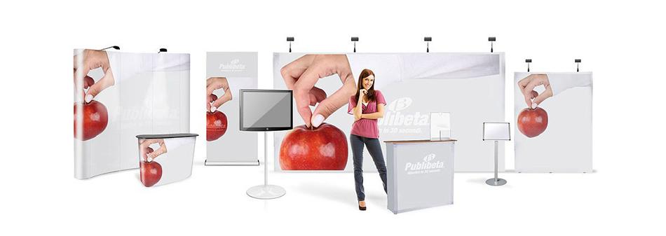 Stand portatili per fiera, stand espositivi, pubblicitari