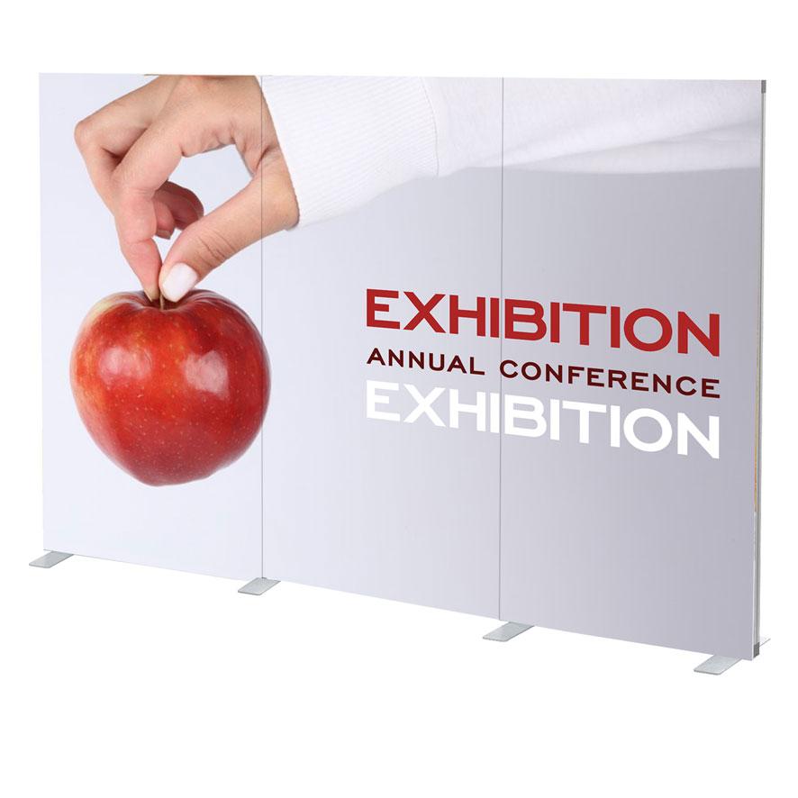 Pannelli grafici per stand, corner pubblicitari, isole promozionali, eventi.