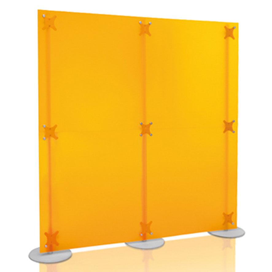 Paret divisoria in PMMA bisatinato colore arancio