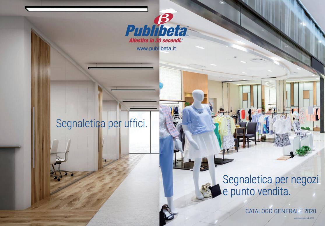 Catalogo generale segnaletica per ufficio, negozio, punto vendita, segnaletica direzionale.