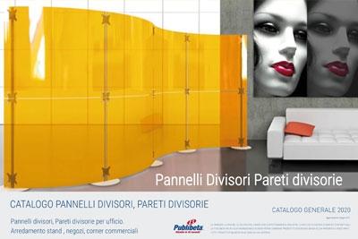 Catalogo pannelli divisori, pareti divisorie