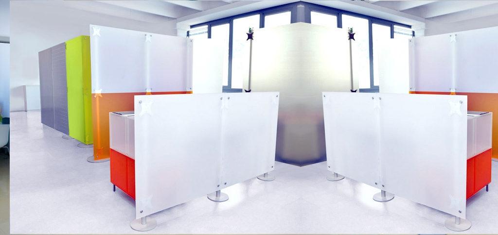 pannelli divisori in plexiglass per uffici e negozi