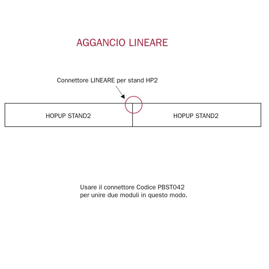 connettore lineare per stand portatili HOPUP2