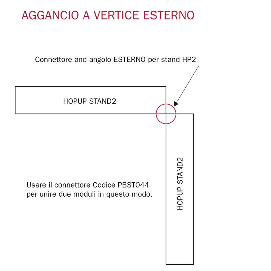 connettore a vertice per stand portatili hopup 2
