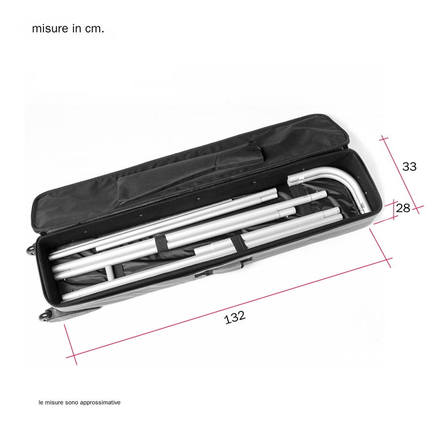 Borsa trolley per stand portatili per fiera dritti modello ABX