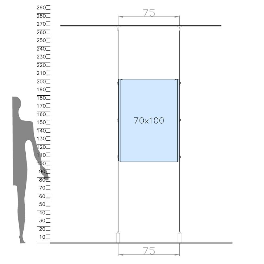 tasche porta avviso in plexiglass per vetrine